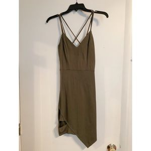 Olive Green Dress W/ slit